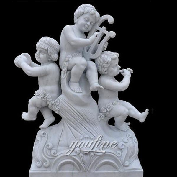 Best Marble Statues of White Marble Little Angel Statues Cherubs SculptureS for sale