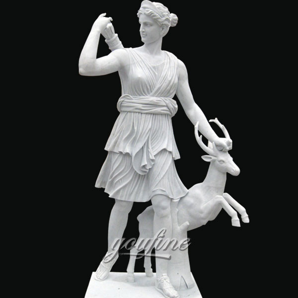 Classic famous art sculptures of Artemis