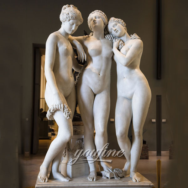Classical famous art sculptures Three Graces by Pradier for home decor