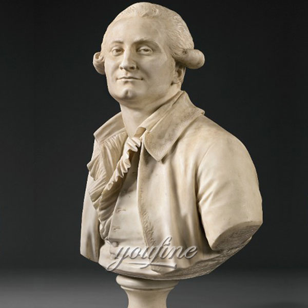Famous art head statues of Houdon Comte de Guibert Bust Sotheby for sale