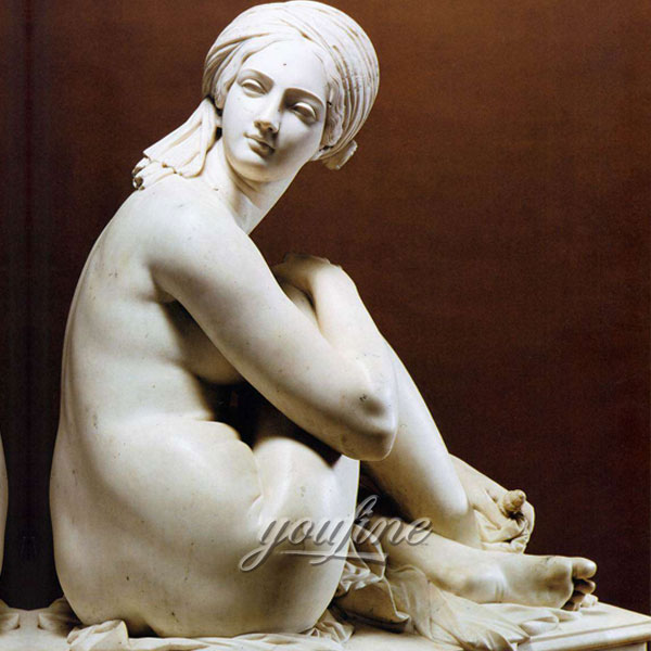 Famous art life size stone sculpture James Pradier from Odalisque to sale