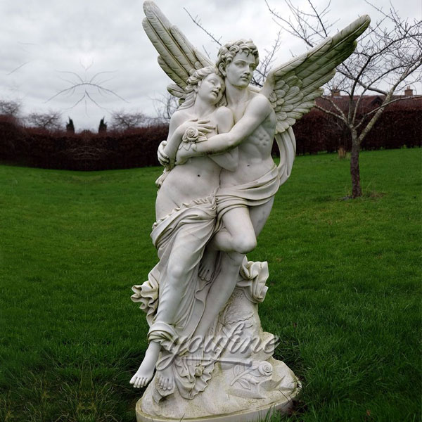 Famous art sculptures decorative Marble cupid and psyche sculpture for Garden