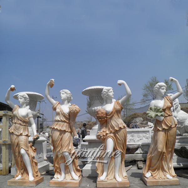 Famous art sculpturea life size four season statues for sale
