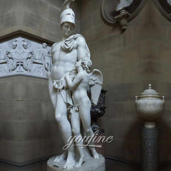 Famous art sculptures in roman Mars and Cupid by John Gibson for home decor on sale