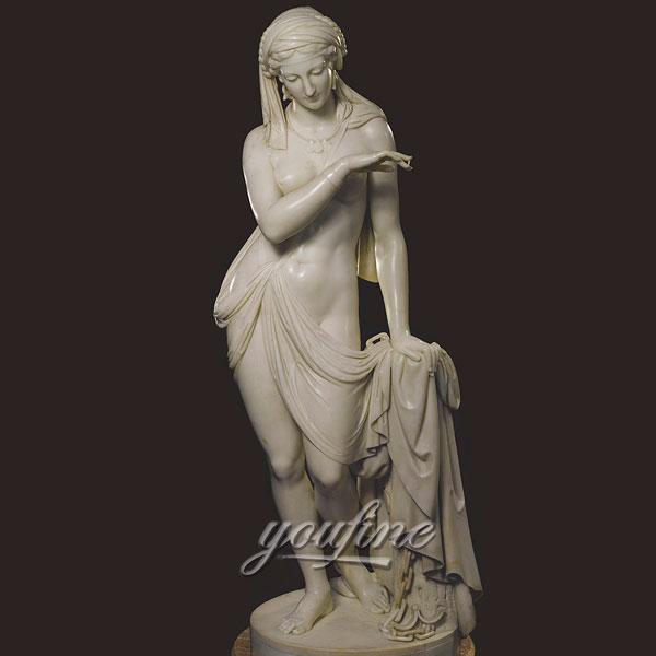 Famous art sculptures in roman of La shiava greca the greek slave for sale
