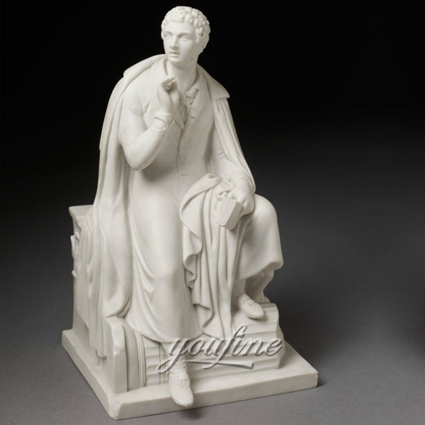Famous art sculptures life size stone Lord Byron for home decor on sale