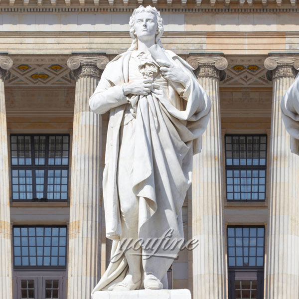 Famous art sculptures of Johann Friedrich Schiller statue in Gendarmenmarkt to sale