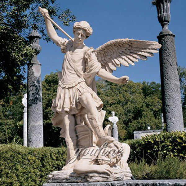 Famous artist design Archangel St. Saint Michael garden angel statue for decor