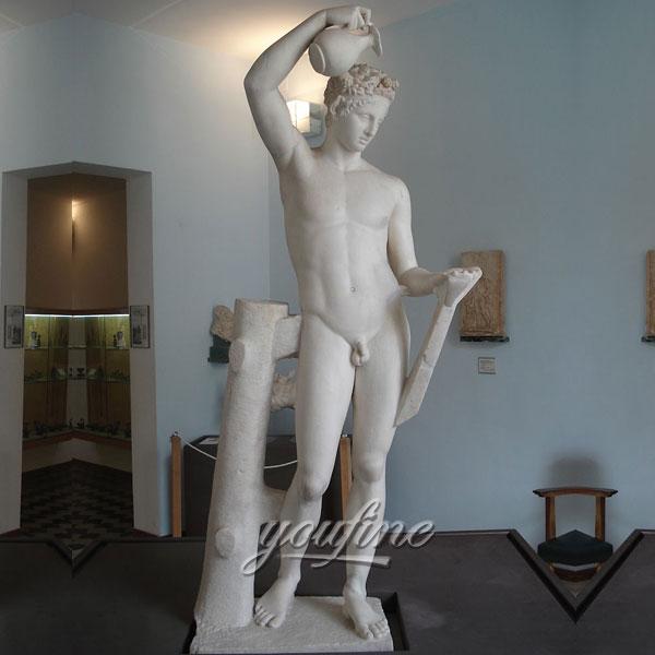 Famous artt sculptures of Sátiro escanciador Le Satyre verseur de Torre del Greco for sale