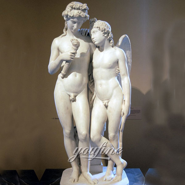 Famous life size stone sculpture Cupid Kindling the Torch of Hymen by George Rennie for sale