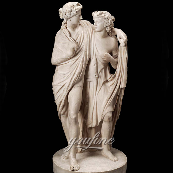 Famous marble sculpture in pairs of Dionysos and maenad sculptures