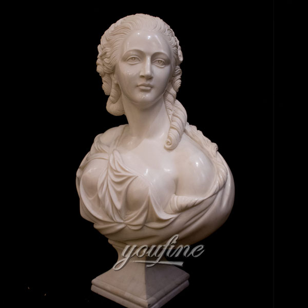 Home decor Marble Sculpture Bust of a Noble Lady for sale