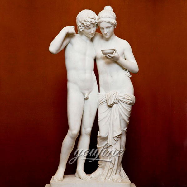 Life size famous sculptures in pair of Cupid and Psyche Bertel Thorvaldsen for home decor