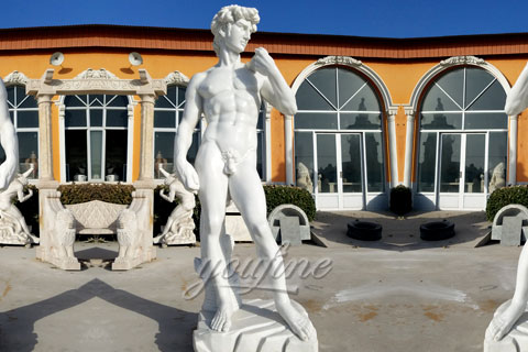 Famous art sculptures of David statue made for a American clients
