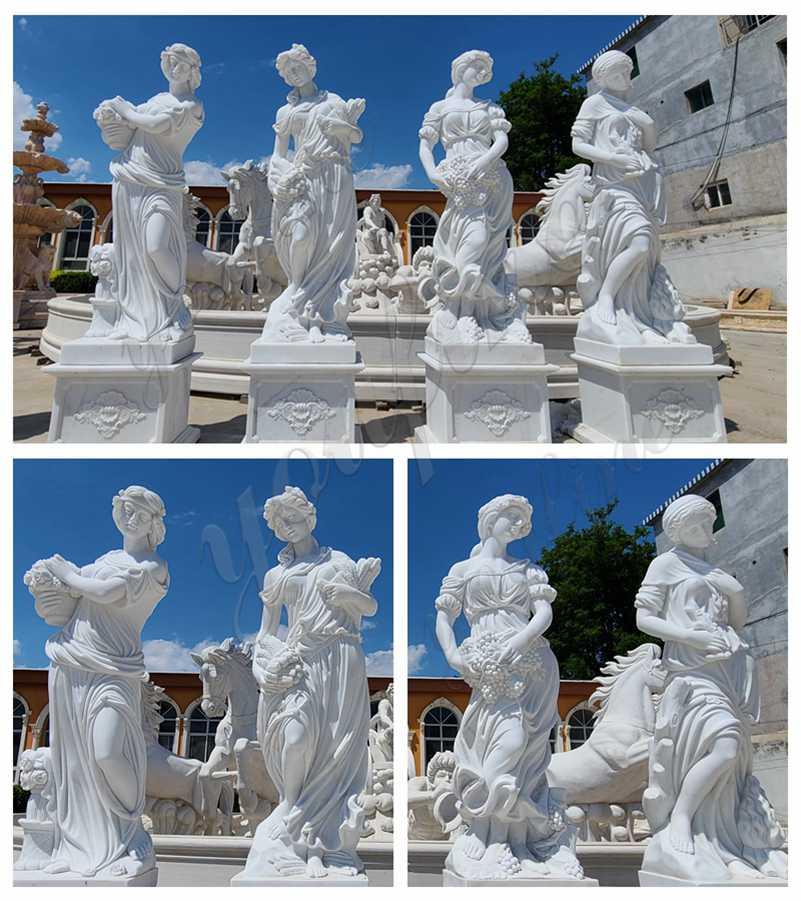 Garden Marble Four Seasons Goddesses Statues