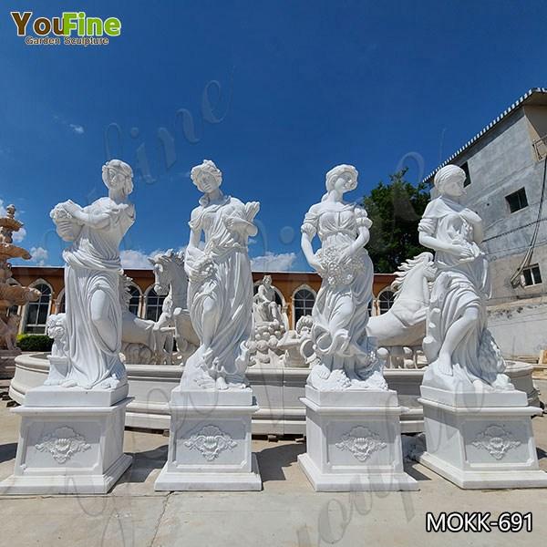 High Quality Garden Marble Four Seasons Goddesses Statues for Sale MOKK-691