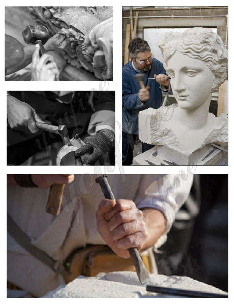process of four seasons statues garden