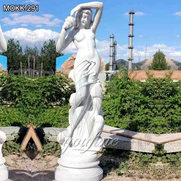 Famous Art Sea Nymph Marble Sculpture by Ferdinando Vichi for Sale