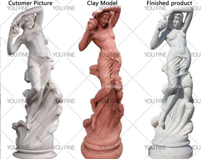 Famous Art Sea Nymph Marble Sculpture details
