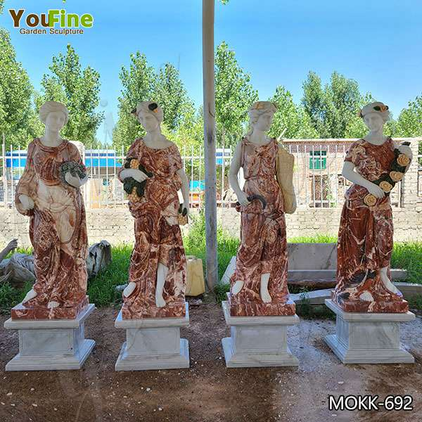 Natural Life Size Four Seasons Marble Statues from Factory Supply