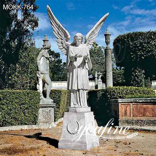 Outdoor Marble Grand Cathedral Angel Sculpture