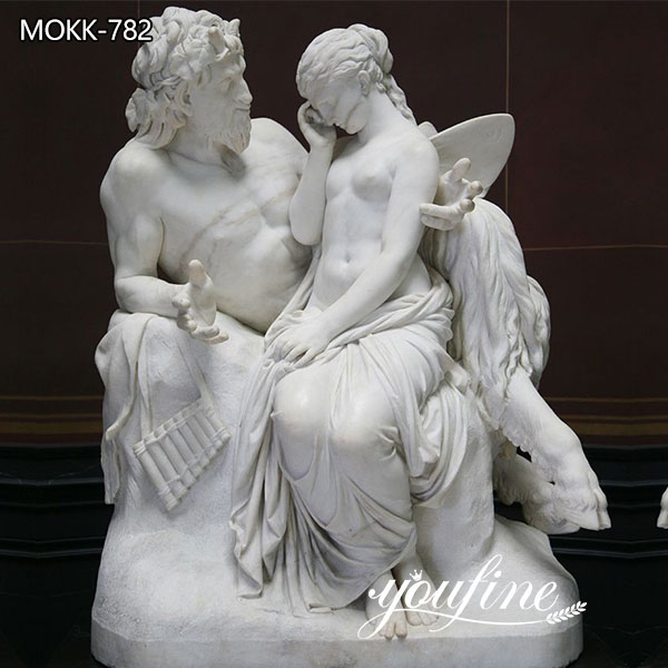 Classic Marble Pan Comforts Psyche Statue Garden Decor for Sale