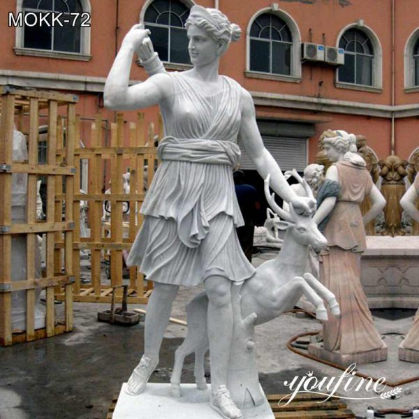 Greek Life Size Marble Goddess Artemis Statue for Sale