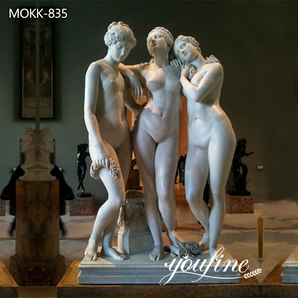 Life Size Garden White Marble Three Graces Statue for Sale