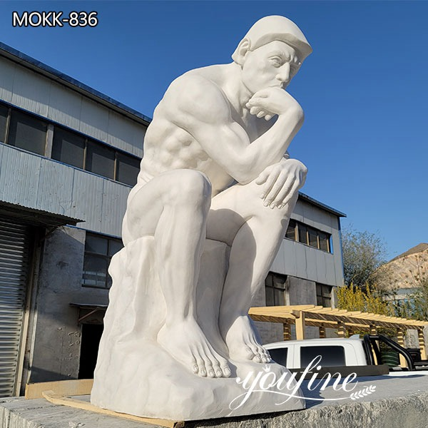 Life Size Rodin Sculpture the Thinker Marble Statue for Sale