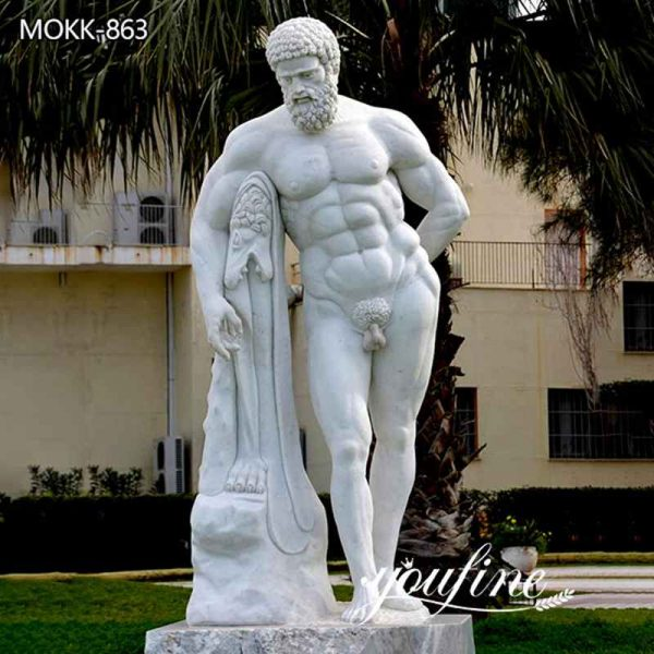 Famous Life Size Marble Farnese Hercules Statue for Sale
